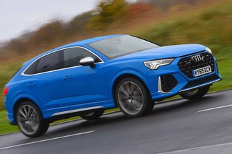 Audi RS Q3 2019 right front tracking