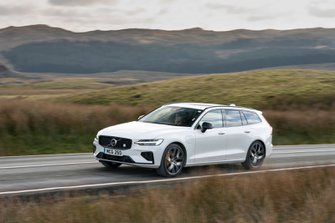 Volvo S60 R design Polestar Engineered 2019 wide front tracking