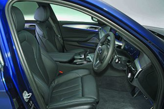 BMW 5 Series Saloon 2019 front seats RHD