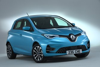 Renault Zoe 2019 UK LHD right front static studio