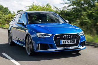 Audi RS3 2017 front tracking shot
