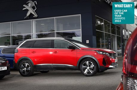 Used Car of the Year 2022 winner - Peugeot 5008 with badge