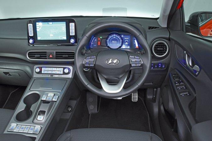 Hyundai Kona Electric all'interno