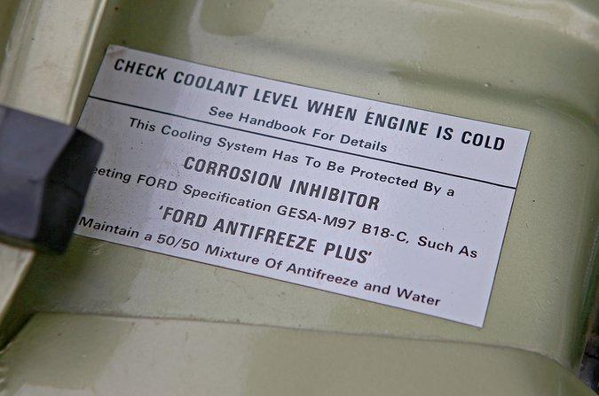 Coolant label