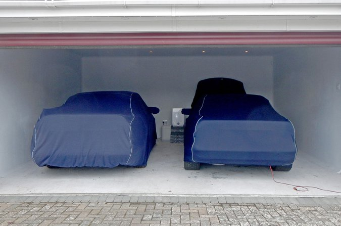 Cars under covers