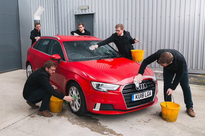 Cleaning the used Audi A3 (13-present) long term test car