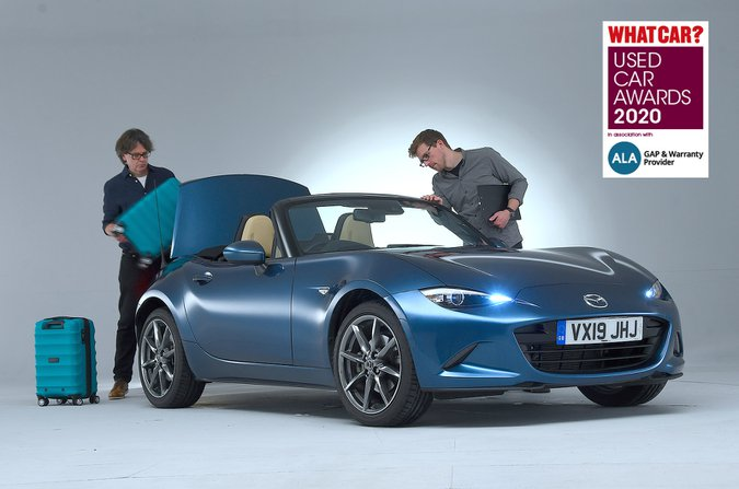 Mazda MX-5 being examined by our used car team
