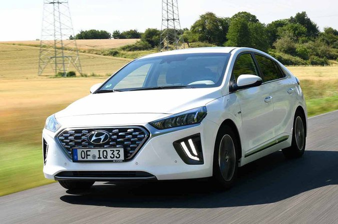2020 Hyundai Ioniq front - white with foreign plate