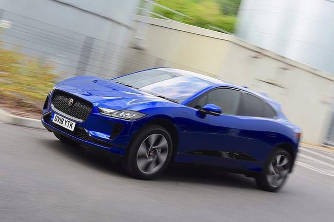 Jaguar I-Pace front and side