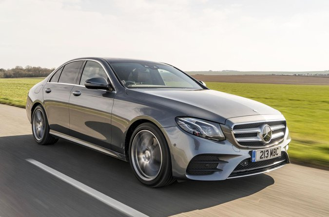 Mercedes E-Class front three quarters
