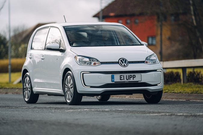 Volkswagen e-Up 2020 RHD wide front right tracking