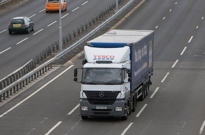 Lorry on motorway