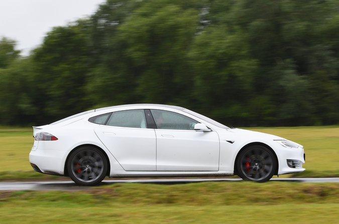2020 Tesla Model S side action