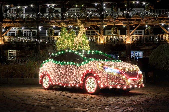 Nissan LEAF Xmas tree