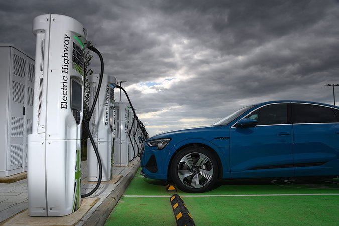 Electric Highway charging stations with Audi e-tron Sportback