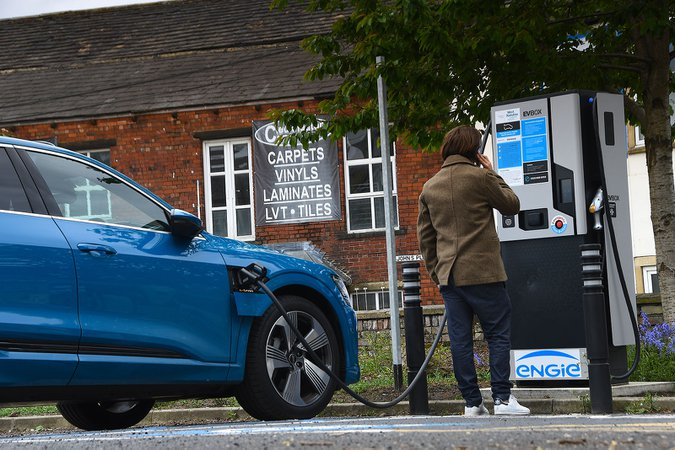 Engie charging point with Audi e-tron Sportback
