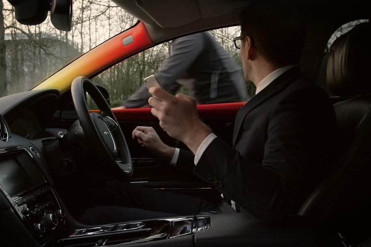 Jaguar Land Rover is developing new safety technology to help prevent collisions with other road users
