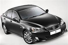 Lexus' sporty IS saloon