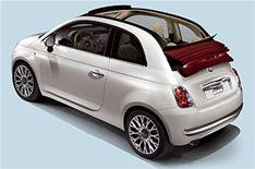 First pictures: Fiat 500 Cabriolet