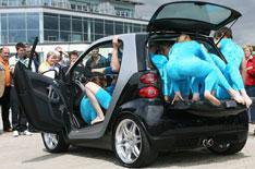 Smart squeezes 13 into a Fortwo