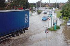 Flood danger alert for drivers