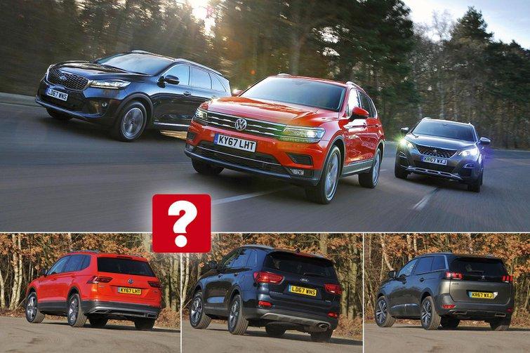New Kia Sorento & Volkswagen Tiguan Allspace vs Peugeot 5008