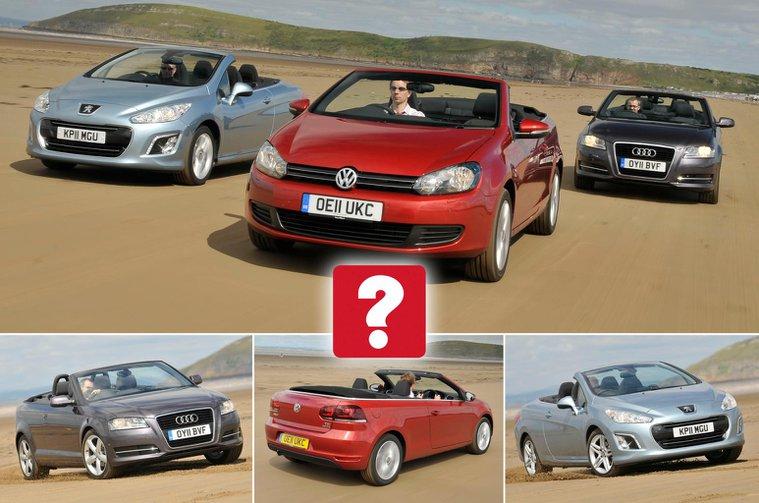 Used convertibles: Audi A3 Cabriolet vs Volkswagen Golf Cabriolet vs Peugeot 308 CC