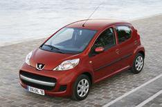 Face-lifted Peugeot 107 pictured