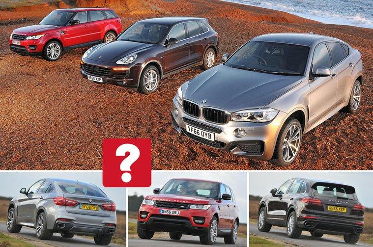 BMW X6 vs Porsche Cayenne vs Range Rover Sport