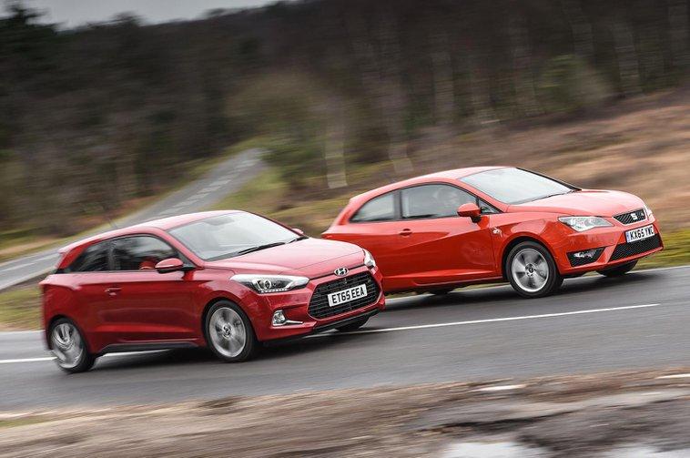 Hyundai i20 Coupé vs Seat Ibiza SC