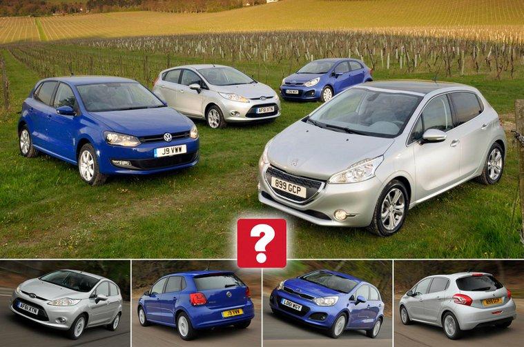 Used Ford Fiesta vs Volkswagen Polo vs Peugeot 208 vs Kia Rio