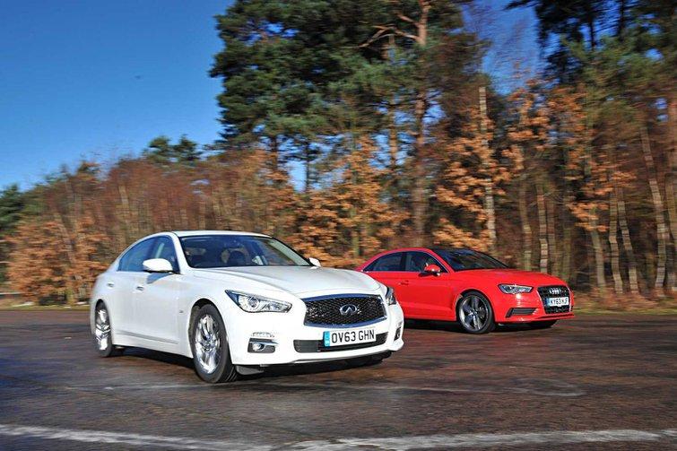 Infiniti Q50 vs Audi A3 Saloon