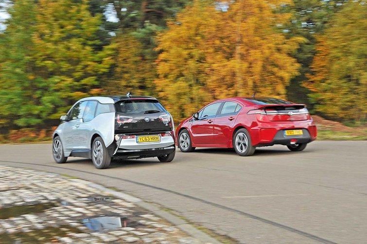 BMW i3 vs Vauxhall Ampera