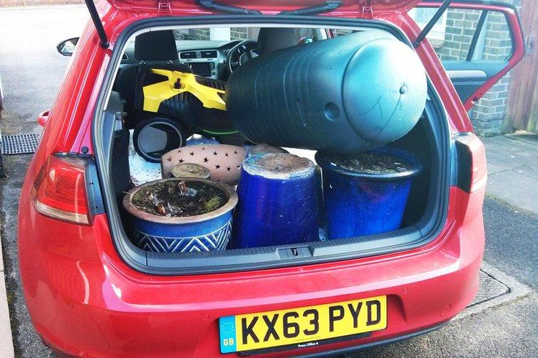 Our cars: VW Golf, Range Rover, Seat Leon and Suzuki SX4 S-Cross