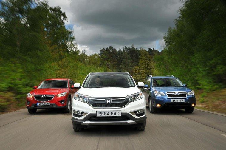 Honda CR-V vs Mazda CX-5 vs Subaru Forester