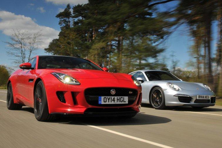 Jaguar F-type Coupe vs Porsche 911