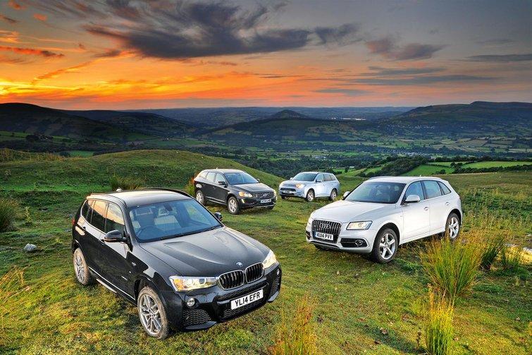 BMW X3 vs Audi Q5 vs Mitsubishi Outlander vs Volvo XC60