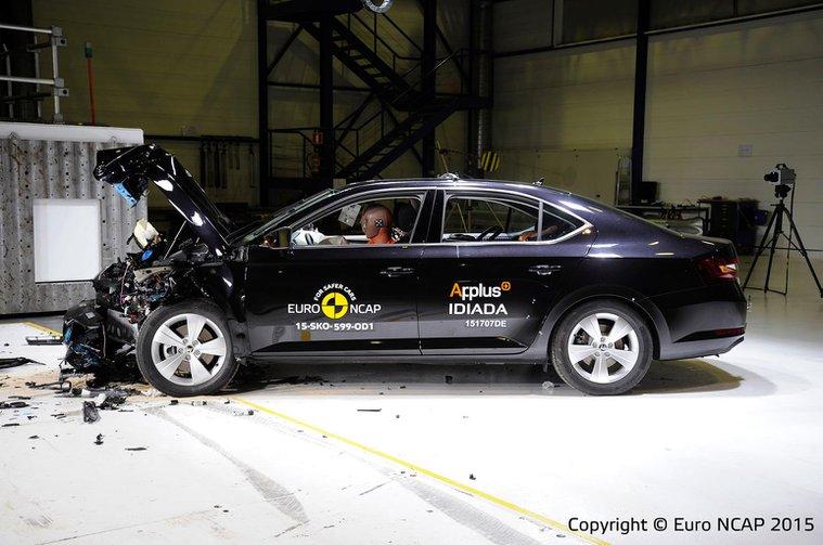 Skoda Superb gets maximum crash test score