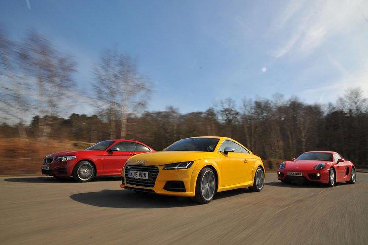 Audi TTS vs BMW M235i vs Porsche Cayman