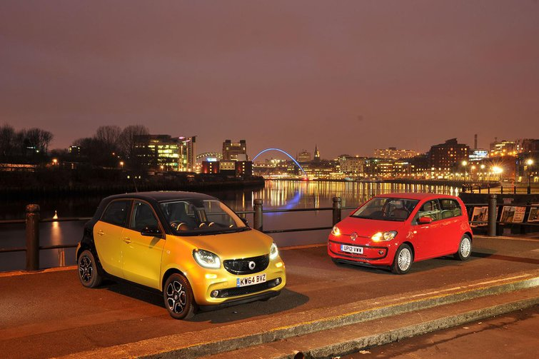 Smart Forfour vs Volkswagen Up