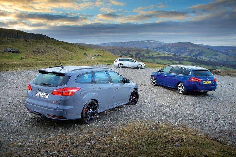 Ford Focus Estate vs Peugeot 308 SW vs Seat Leon ST