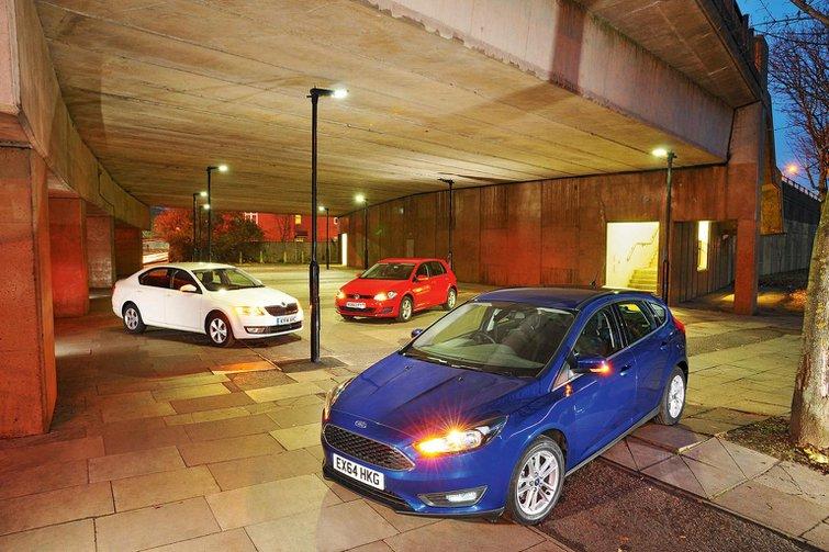 Ford Focus vs Volkswagen Golf vs Skoda Octavia