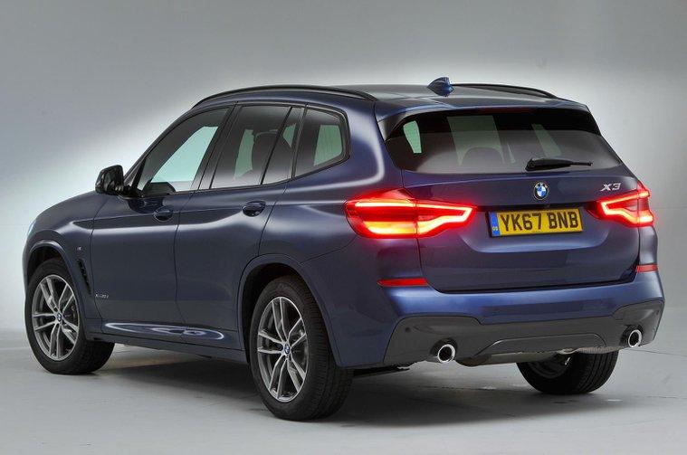 BMW X3 2021 rear left studio