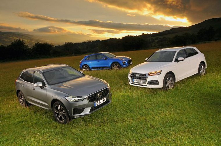 Volvo XC60, Audi Q5 and Porsche Macan