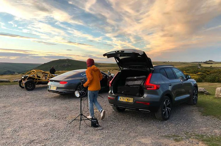 Long-term Volvo XC40 with Bentley Continental GT and Ariel Nomad
