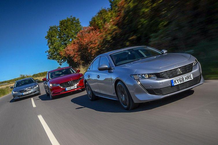 New Mazda 6 & Peugeot 508 vs Skoda Superb