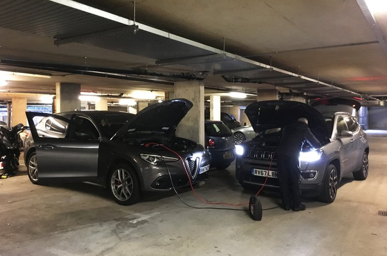 Long-term Alfa Romeo Stelvio with flat battery