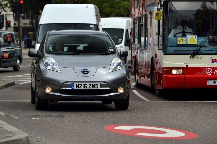 Nissan Leaf in Congestion zone