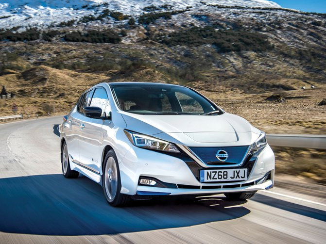 The Nissan LEAF is the perfect car for conquering stop-start winter traffic