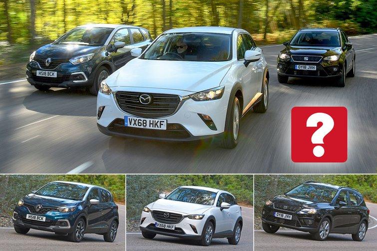 New Mazda CX-3 & Renault Captur vs Seat Arona